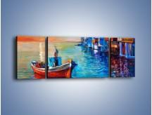 Obraz na płótnie – Domy na wodzie – trzyczęściowy GR444W5
