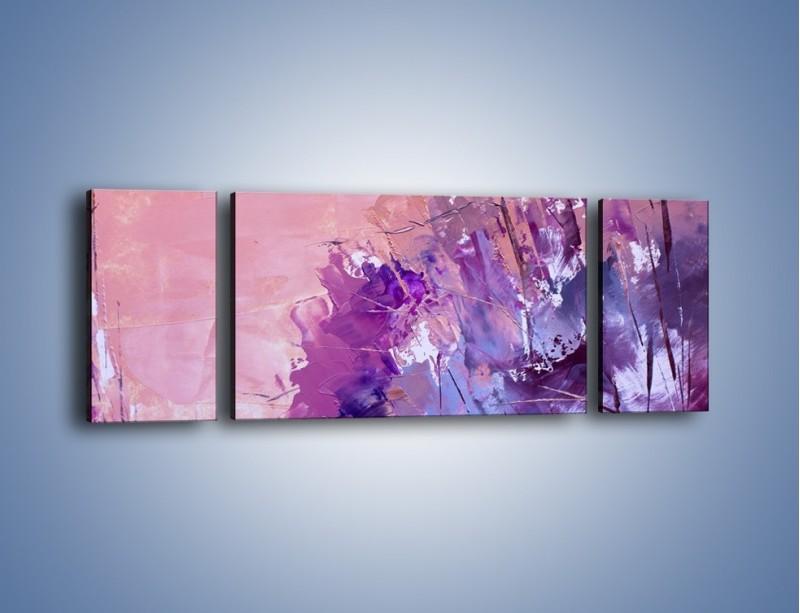 Obraz na płótnie – Mocna barwa fioletu – trzyczęściowy GR472W5