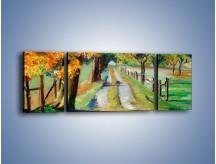 Obraz na płótnie – Aleją wśród drzew – trzyczęściowy GR487W5