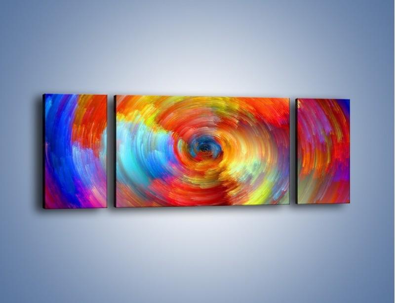 Obraz na płótnie – Kolorowy wir – trzyczęściowy GR502W5