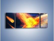 Obraz na płótnie – Atak kula ognia – trzyczęściowy GR532W5