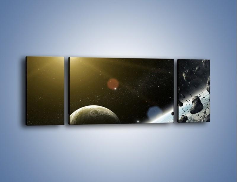 Obraz na płótnie – Dotrzeć między planety – trzyczęściowy GR534W5