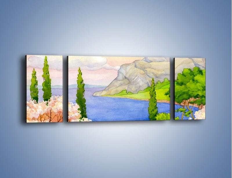 Obraz na płótnie – Krajobraz jak z pocztówki – trzyczęściowy GR541W5