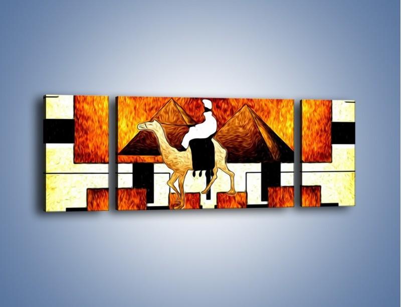Obraz na płótnie – Wędrówka na wielbłądzie – trzyczęściowy GR593W5
