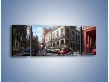 Obraz na płótnie – Codzienne życie na kubie – trzyczęściowy GR627W5