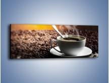 Obraz na płótnie – Aromatyczna filiżanka kawy – jednoczęściowy panoramiczny JN298