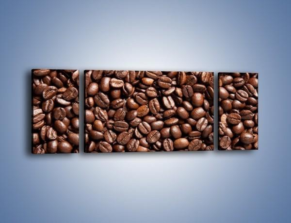 Obraz na płótnie – Ziarna świeżej kawy – trzyczęściowy JN061W5