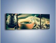 Obraz na płótnie – Czarna kawa arabica – trzyczęściowy JN064W5