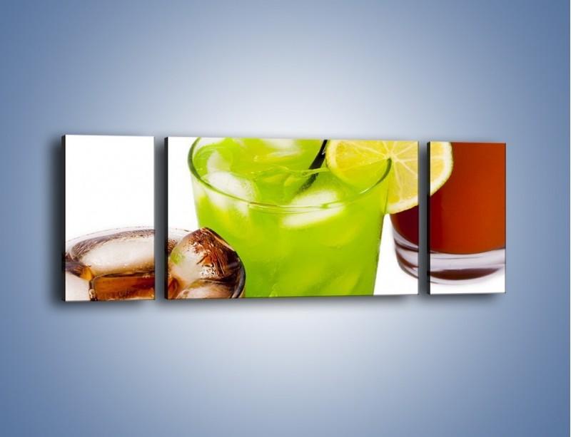 Obraz na płótnie – Kwaśno-słodkie drinki – trzyczęściowy JN093W5