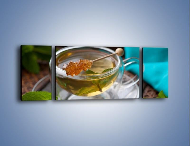 Obraz na płótnie – Oczyszczająca zielona herbata – trzyczęściowy JN104W5