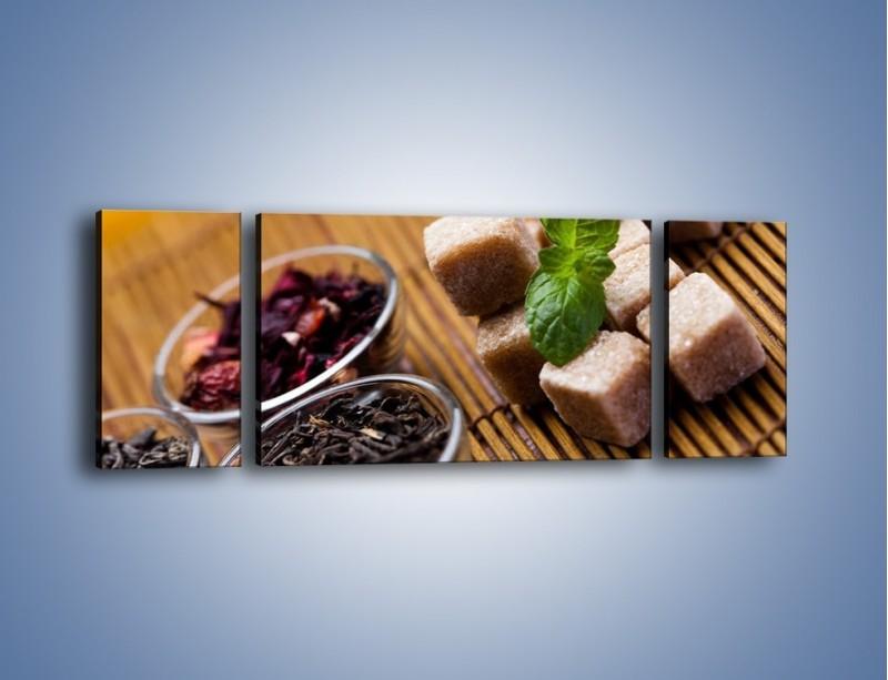 Obraz na płótnie – Ususzone bogactwa natury do herbaty – trzyczęściowy JN105W5