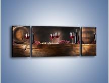 Obraz na płótnie – Beczuszki czerwonego wina – trzyczęściowy JN142W5