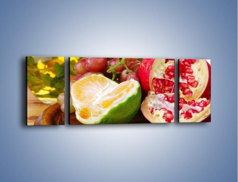 Obraz na płótnie – Owocowa taca pełna zdrowia – trzyczęściowy JN170W5