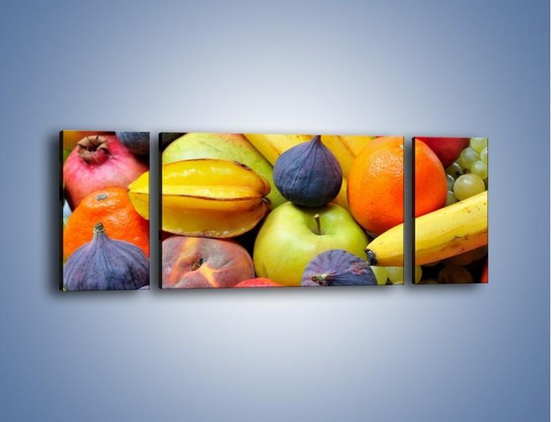 Obraz na płótnie – Owocowe kolorowe witaminki – trzyczęściowy JN173W5