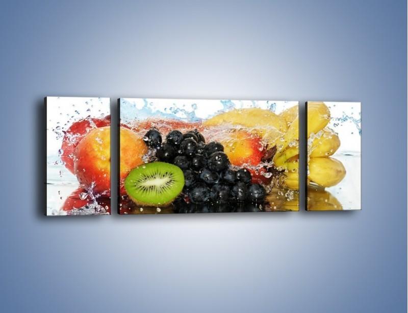 Obraz na płótnie – Owocowe nuty skąpane w wodzie – trzyczęściowy JN176W5