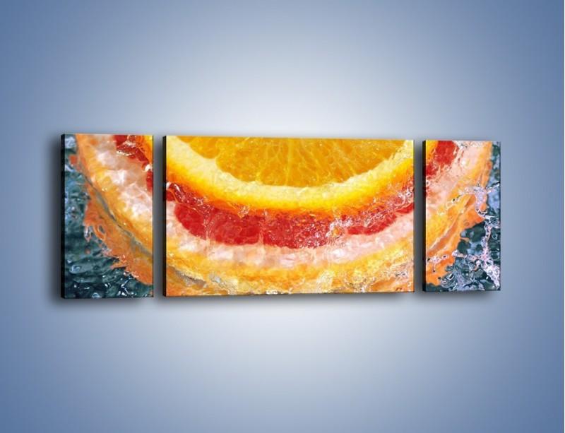 Obraz na płótnie – Cytrusowe trio – trzyczęściowy JN177W5