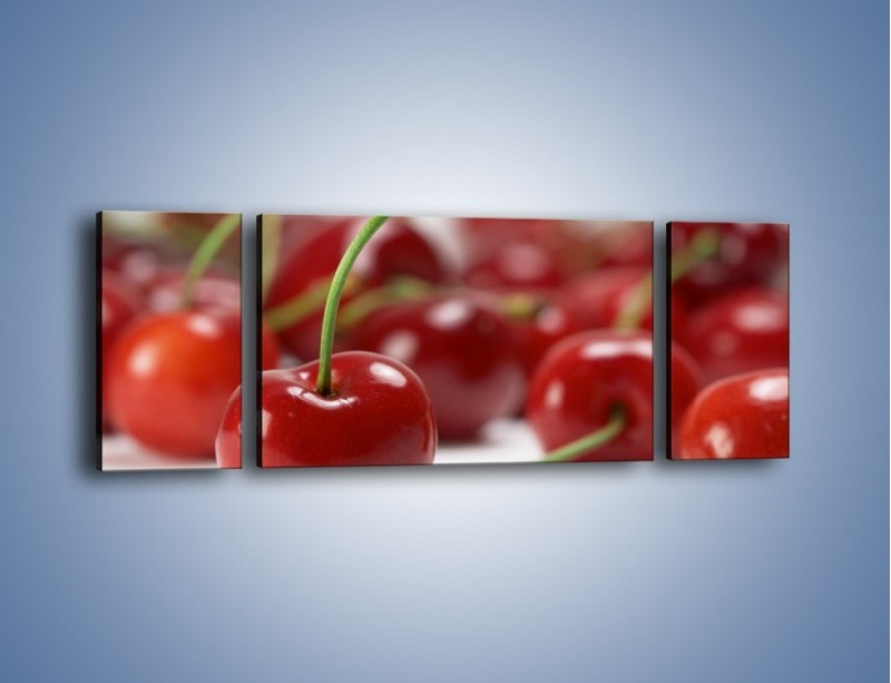 Obraz na płótnie – Czereśnia rządzi w kuchni – trzyczęściowy JN223W5