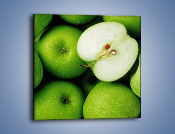 Obraz na płótnie – Zielone jabłuszka – jednoczęściowy kwadratowy JN039