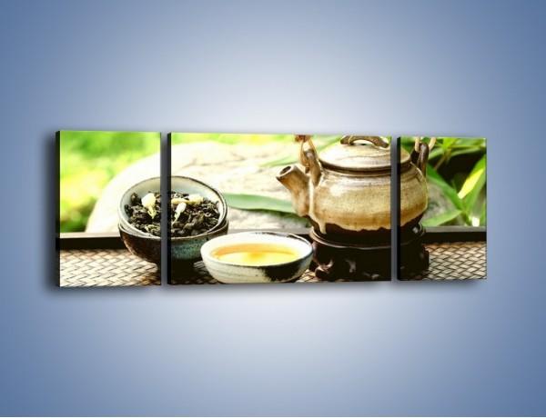 Obraz na płótnie – Herbata na świeżym powietrzu – trzyczęściowy JN249W5