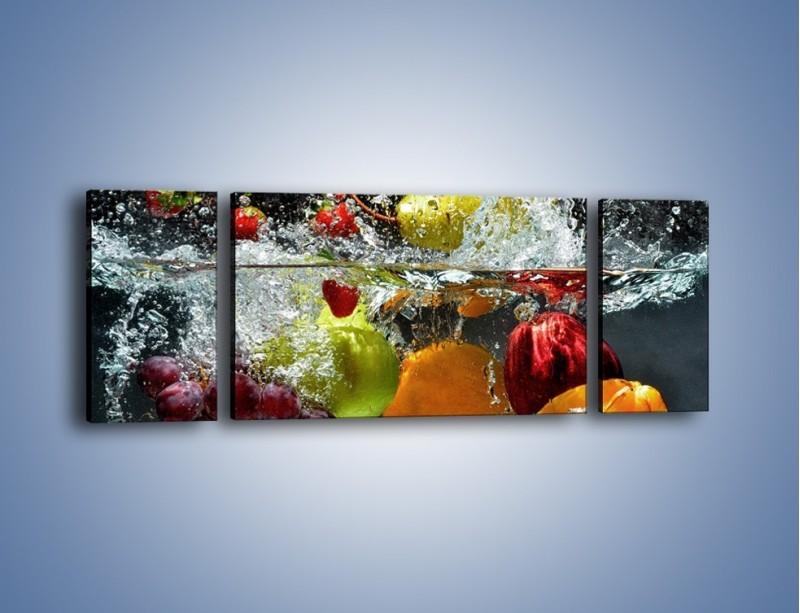 Obraz na płótnie – Głębokie owocowe zanurzenie – trzyczęściowy JN253W5