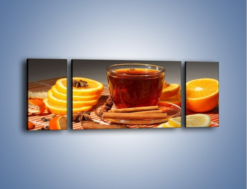 Obraz na płótnie – Imbirowo-pomarańczowe rozluźnienie – trzyczęściowy JN260W5