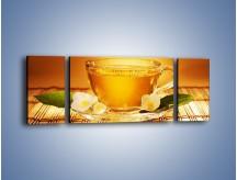 Obraz na płótnie – Delikatny smak herbaty – trzyczęściowy JN261W5