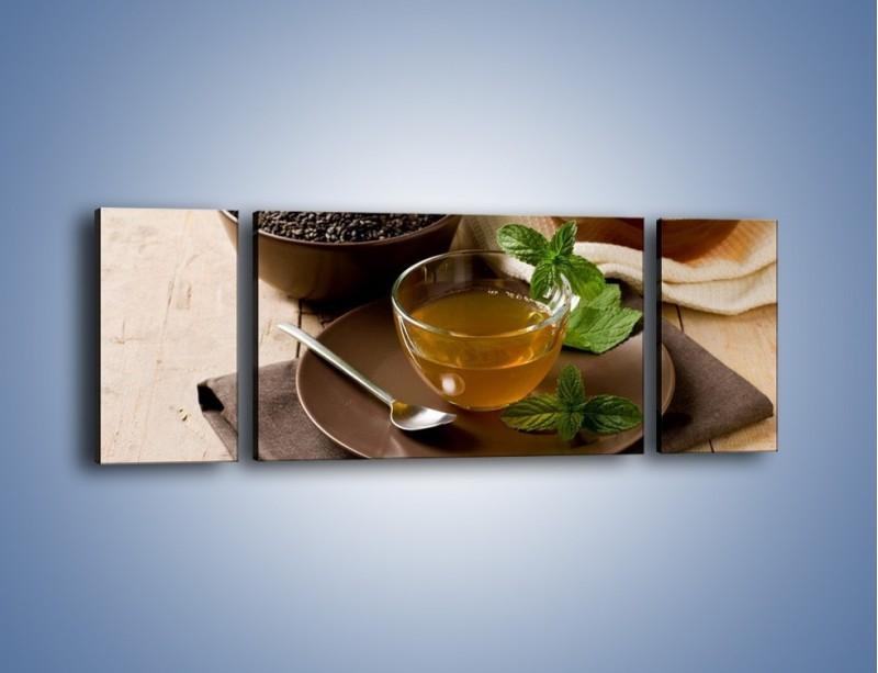 Obraz na płótnie – Filiżanka herbaty na poprawę humoru – trzyczęściowy JN264W5