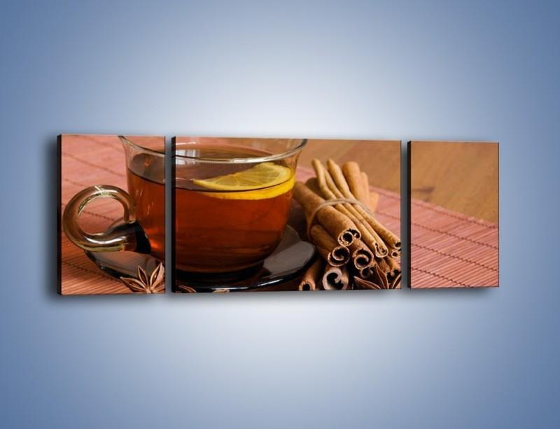 Obraz na płótnie – Rozgrzewająca filiżanka herbaty – trzyczęściowy JN266W5