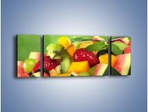 Obraz na płótnie – Arbuzowa misa z owocami – trzyczęściowy JN274W5