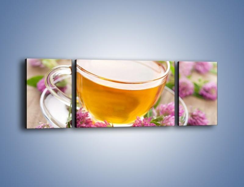 Obraz na płótnie – Herbata z kwiatami – trzyczęściowy JN283W5