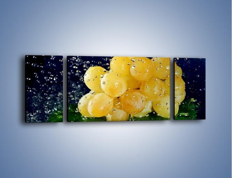 Obraz na płótnie – Słodkie winogrona z miętą – trzyczęściowy JN286W5