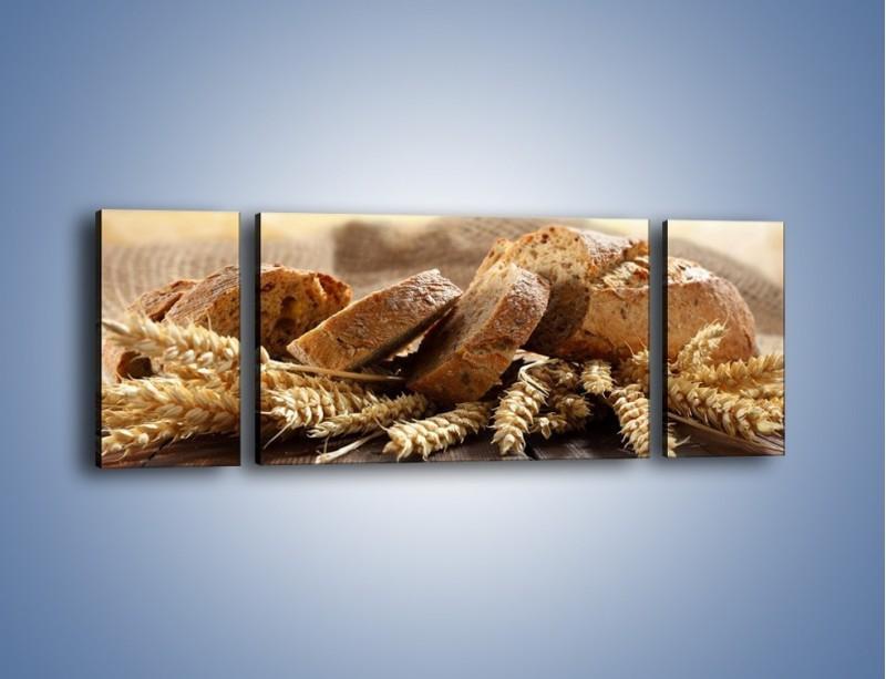 Obraz na płótnie – Świeży pszenny chleb – trzyczęściowy JN287W5