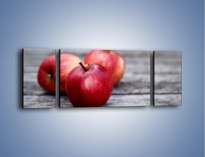 Obraz na płótnie – Jabłkowe zdrowie – trzyczęściowy JN296W5