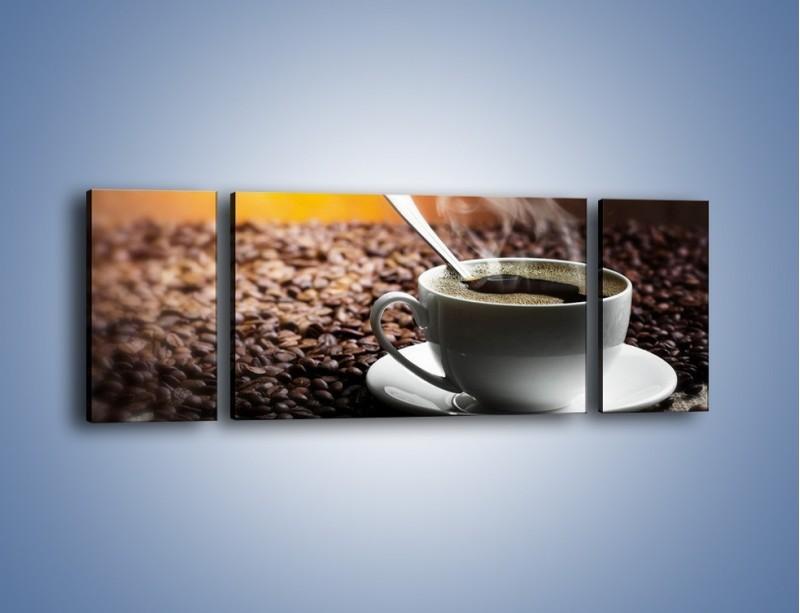 Obraz na płótnie – Aromatyczna filiżanka kawy – trzyczęściowy JN298W5
