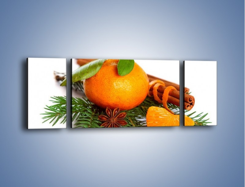 Obraz na płótnie – Pomarańcza na święta – trzyczęściowy JN306W5