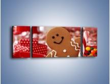 Obraz na płótnie – Ciasteczkowy ulubieniec dzieci – trzyczęściowy JN308W5