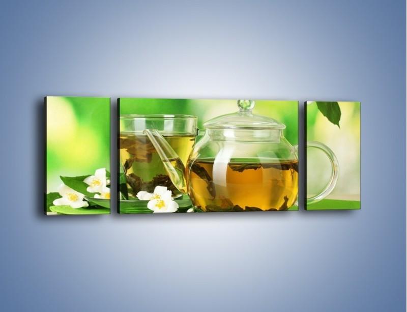 Obraz na płótnie – Herbaciane ukojenie – trzyczęściowy JN316W5