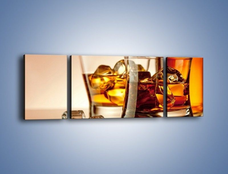 Obraz na płótnie – Męskie rozmowy przy whisky – trzyczęściowy JN318W5