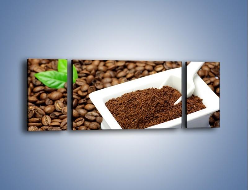 Obraz na płótnie – Zmielona kawa – trzyczęściowy JN340W5