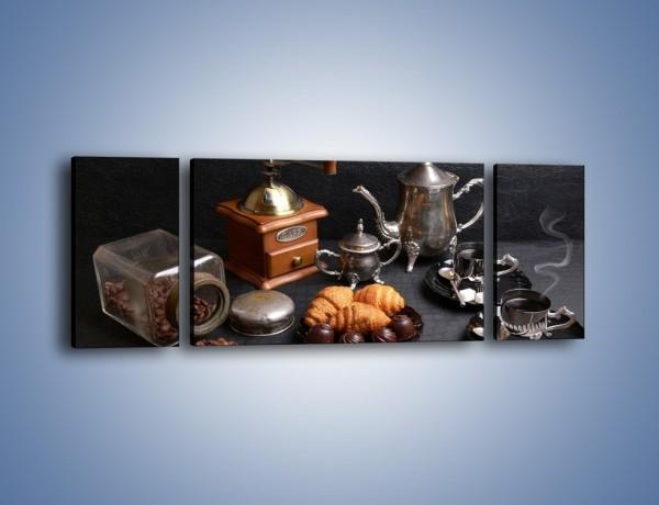 Obraz na płótnie – Popołudnie przy kawie – trzyczęściowy JN341W5