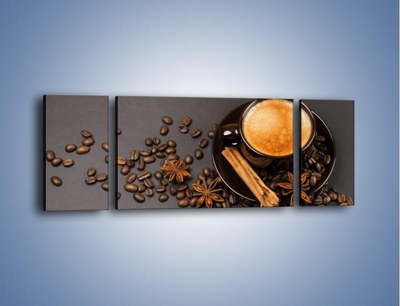 Obraz na płótnie – Kawa z goździkiem – trzyczęściowy JN349W5
