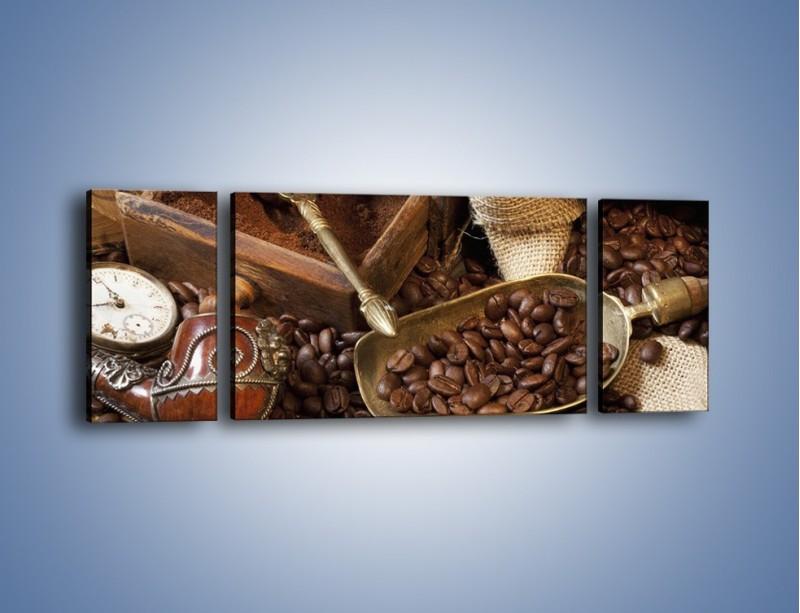 Obraz na płótnie – Szuflada pełna kawy – trzyczęściowy JN356W5