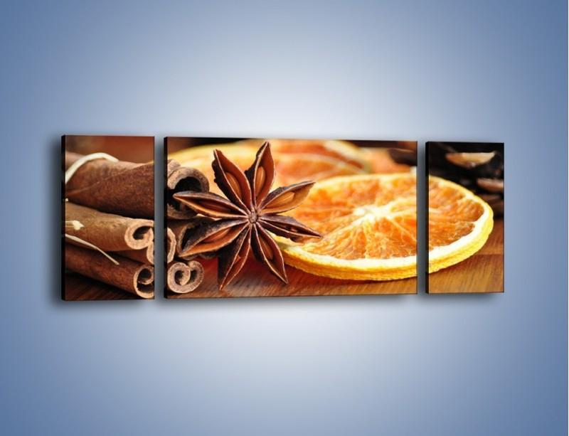 Obraz na płótnie – Pomarańcza z dodatkami – trzyczęściowy JN357W5