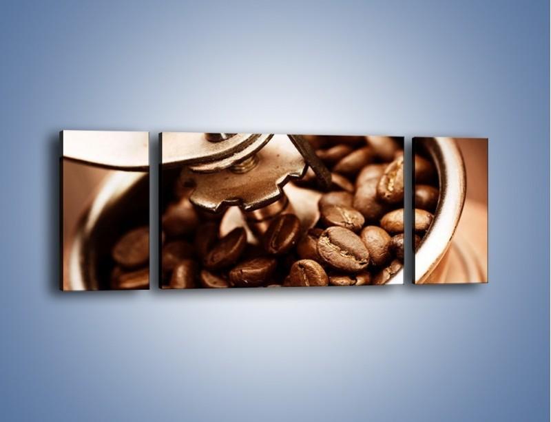 Obraz na płótnie – Kawa w młynku – trzyczęściowy JN361W5