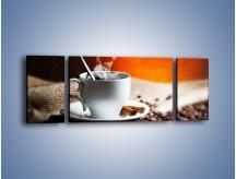 Obraz na płótnie – Aromatyczny zapach kawy – trzyczęściowy JN374W5