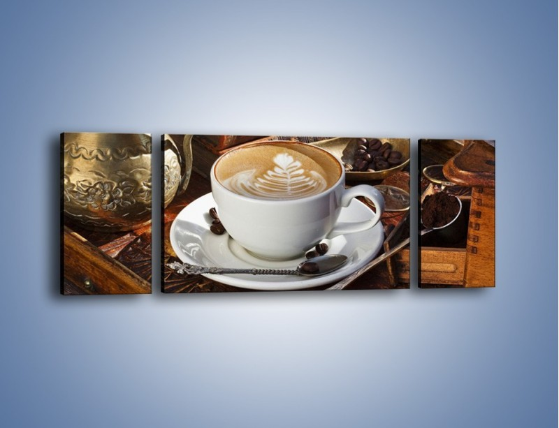 Obraz na płótnie – Wspomnienie przy kawie – trzyczęściowy JN377W5