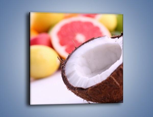 Obraz na płótnie – Kokosowo-owocowy mix – jednoczęściowy kwadratowy JN042