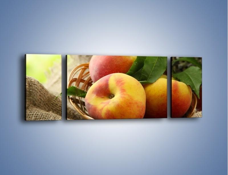 Obraz na płótnie – Dojrzałe jabłka w koszu – trzyczęściowy JN390W5