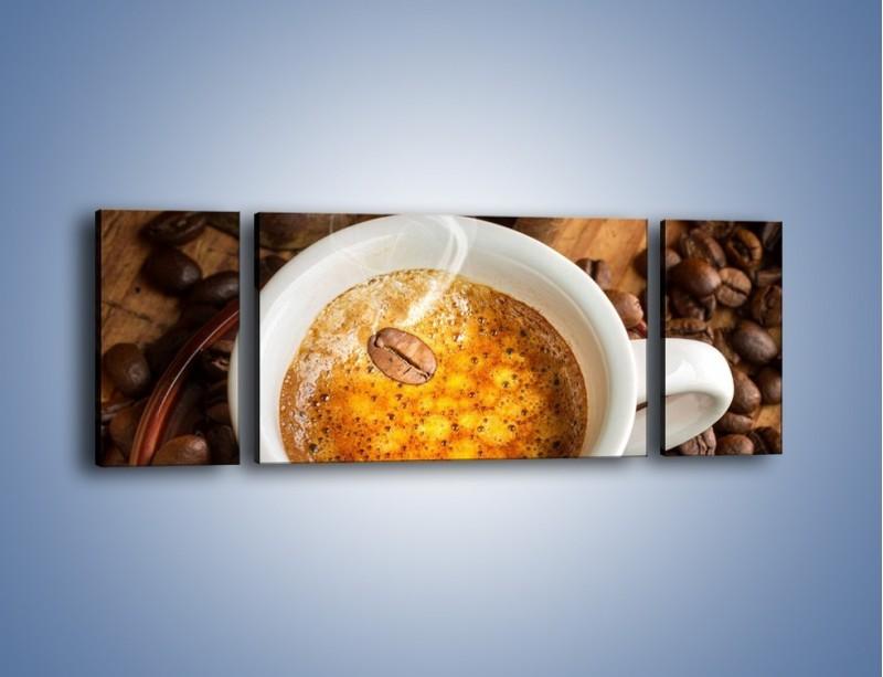 Obraz na płótnie – Ziarna zatopione w kawie – trzyczęściowy JN416W5