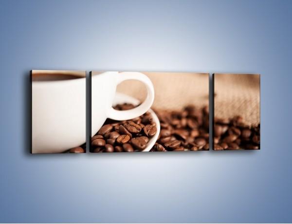 Obraz na płótnie – Kawa z bliska – trzyczęściowy JN431W5